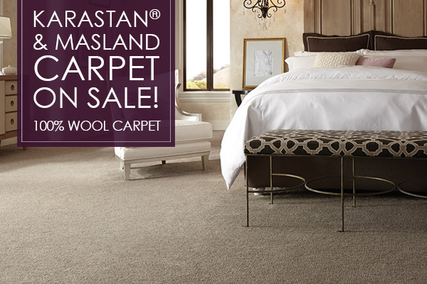 Karastan and Maslan Carpet on sale now! 100% Wool Carpet. Come visit us at our showroom in Portland, Maine!