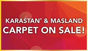 Gold Tag Sale on Karastan and Masland carpet. Made of 100% wool, buy these carpets during the sale at Port City Flooring