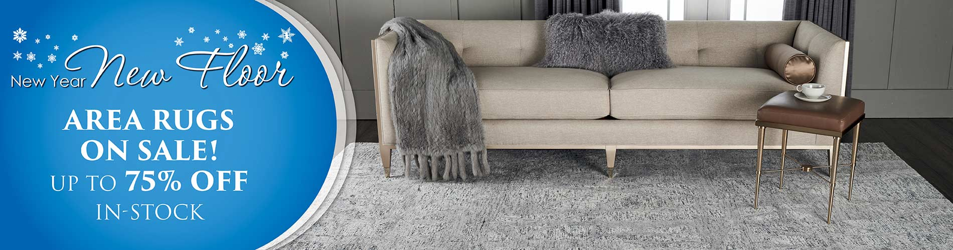 New Year New Flor Sale Going On Now! In-stock area rugs on sale up to 75% off
