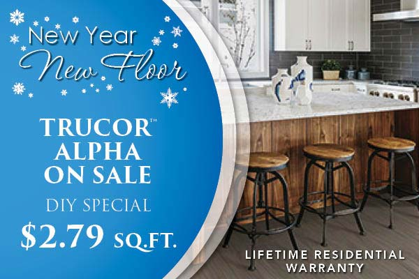 New Year New Flor Sale Going On Now! Trucore Alpha on sale for only $2.79 – DIY Special