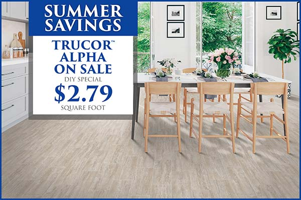 Summer Savings! Trucor Alpha on sale. DIY Special. $2.79 square foot