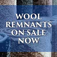 Wool remnants on sale now